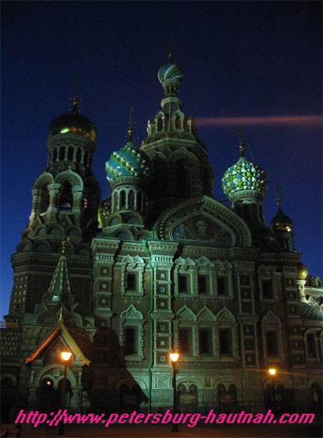 Blutskirche in der Nacht